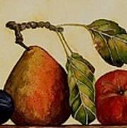 Pear Plum Apple Art Print