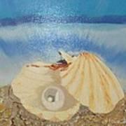 Pearl In A Shell Art Print