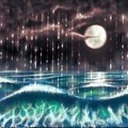 Pearl Rain @ Precious Pearl Ocean Art Print