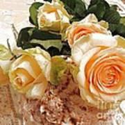 Pearl Roses Art Print