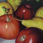 Pears And Apples Print by Natasha Denger
