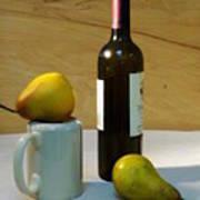 Pears And Wine Art Print