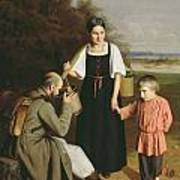 Peasant Offering A Soldier A Drink Art Print