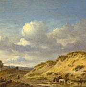 Peasants Driving Cattle And Sheep Art Print