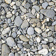 Pebble Background Art Print