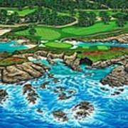Pebble Beach 15th Hole-north Art Print
