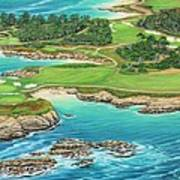 Pebble Beach 15th Hole-south Art Print