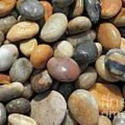 pebble beach Chesil UK  Art Print