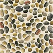Pebbles On Sand Art Print