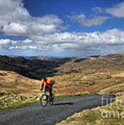 Pedalling The Pass Art Print