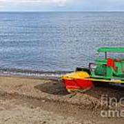 Pedalo On The Shore Of Lake Issyk Kul In Kyrgyzstan Art Print