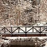 Pedestrian Bridge In The Snow Art Print