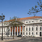 Pedro Iv Square Best Known As Rossio Square Art Print