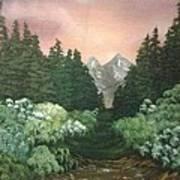Peek-a-boo Mountains Art Print