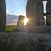Peek-a-boo Sun At Stonehenge Art Print