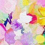 Pefect Birthday Flowers Art Print