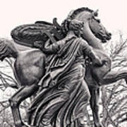 Pegasus Tamed By The Muses Erato And Calliope Art Print