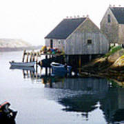 Peggy's Cove Boat And Fisherman's Boat House Art Print
