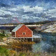 Peggy's Cove Art Print by Cindy Rubin