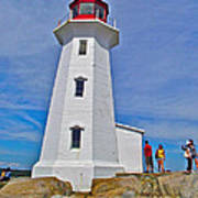 Peggy's Cove Lighthouse Closeup-ns Art Print