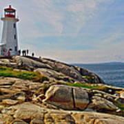 Peggy's Cove Lighthouse On The Rocks-ns Art Print