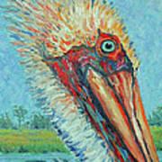 Pelican After Style Of Van Gogh Art Print