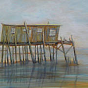 Pelican House In Cedar Kay Art Print