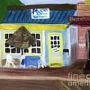Pelican Restaurant On Lake Ave In Lake Worth Florida Art Print