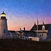 Pemaquid Point Light At Dawn Art Print