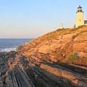 Pemaquid Point Lighthouse Bluffs Art Print