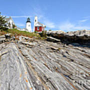 Pemaquid Point Lighthouse In Maine Print by Olivier Le Queinec