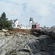 Pemaquid Point Lighthouse Art Print by Joseph Rennie