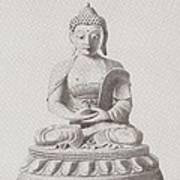 Pen And Ink Buddha Art Print
