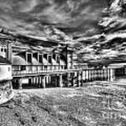 Penarth Pier 6 Monochrome Art Print