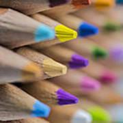Pencils Colored Macro 5 Art Print