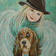 Penelope And Charlie Little Angel Of Faith And Loyalty Art Print