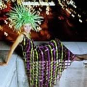 Penelope Tree Wearing Paco Rabanne Art Print