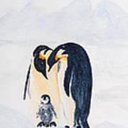 Penguin Family Art Print