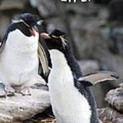 Penguin New Baby Card Art Print