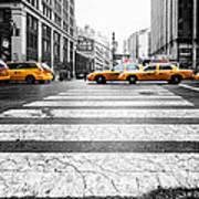 Penn Station Yellow Taxi Art Print