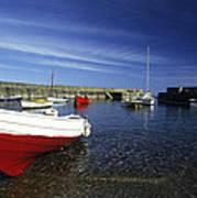 Pennan Harbour Scotland Art Print