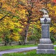 Pennsylvania At Gettysburg - 115th Pa Volunteer Infantry De Trobriand Avenue Autumn Art Print