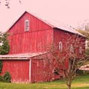 Pennsylvania Barn  Cira 1700 Art Print