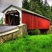 Pennsylvania Country Roads - Forry's Mill Covered Bridge - Lancaster County Spring No. 2 Art Print