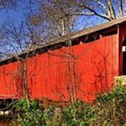 Pennsylvania Country Roads - Wagoners Covered Bridge Over Bixlers Run - Perry County Art Print