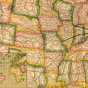 Pennsylvania Railroad Map 1879 Art Print