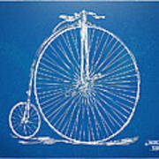 Penny-farthing 1867 High Wheeler Bicycle Blueprint Art Print