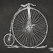 Penny-farthing 1867 High Wheeler Bicycle Patent - Gray Art Print