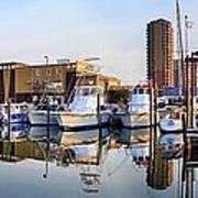 Pensacola Beach Harbor Panoramic Art Print