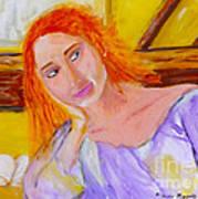 Pensando En Ti Art Print by Mounir Mounir